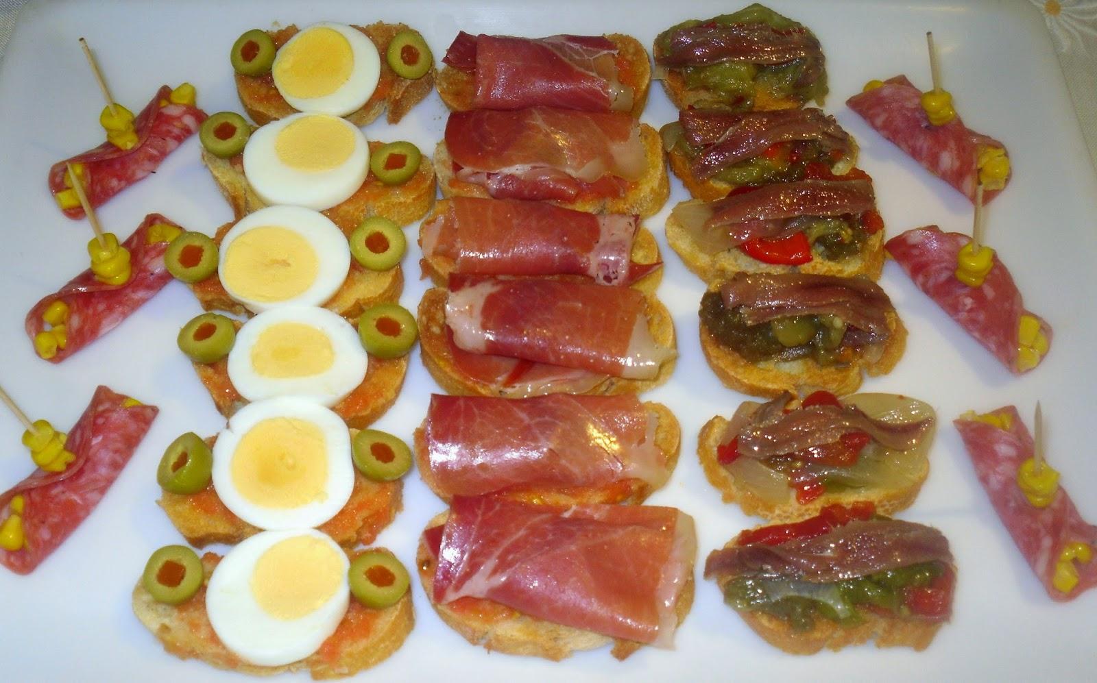 Recetas de mi madre y mias entremeses variados for Platos aperitivos