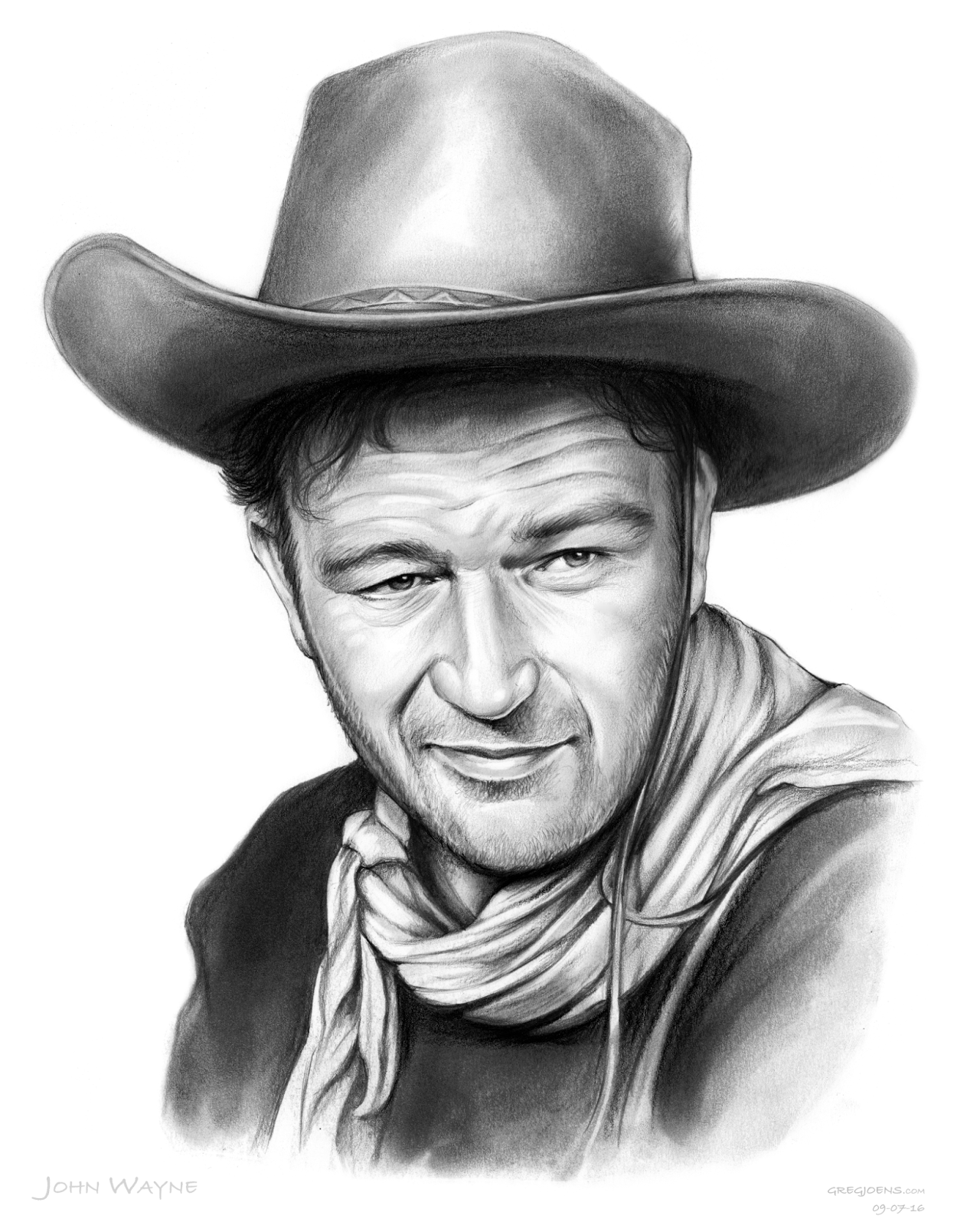 Sketch Of The Day John Wayne