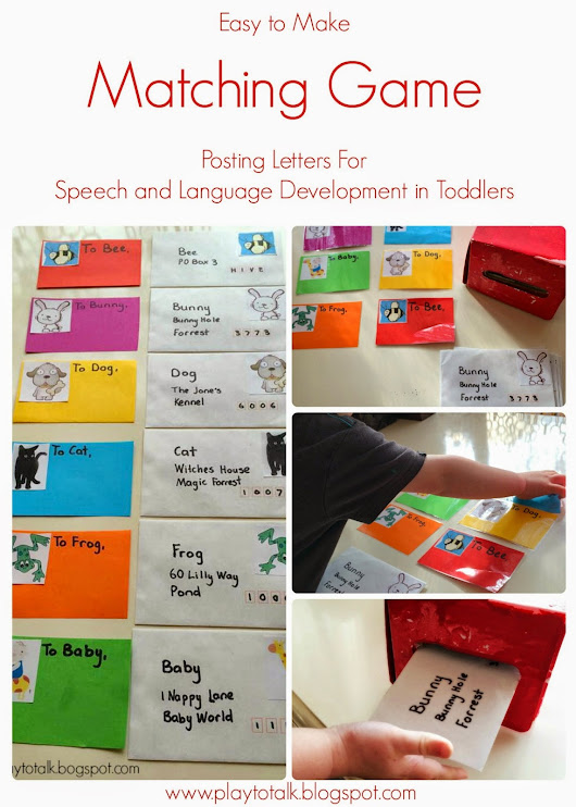 Matching and Posting Letters Game