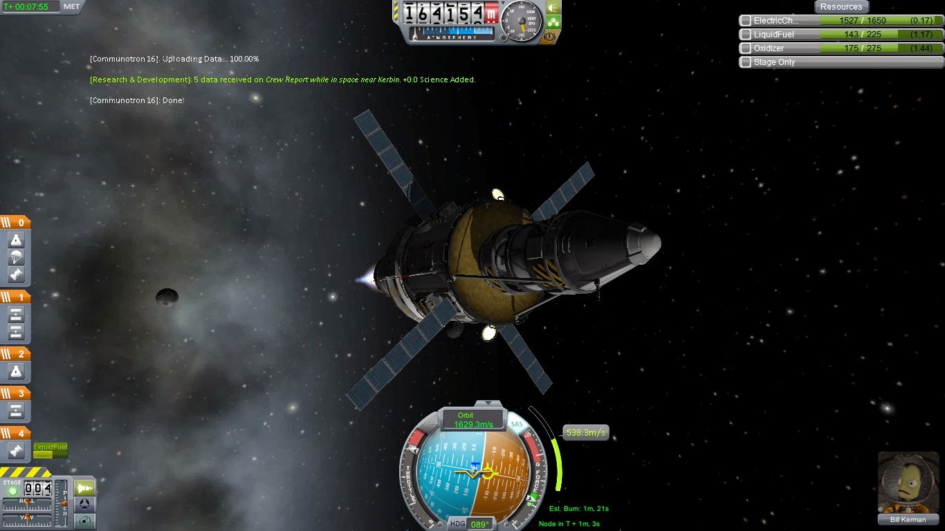 Kerbal Space Program Journal de bord du commandant