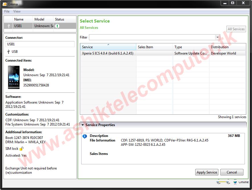 Sony Xperia Flash Tool (Emma) Download   vpomoc