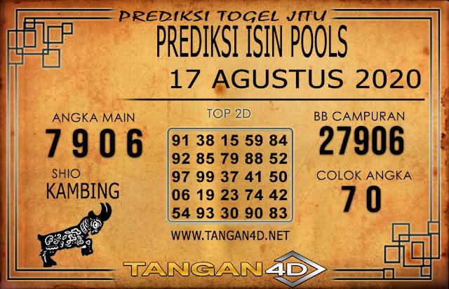 PREDIKSI TOGEL ISIN TANGAN4D 17 AGUSTUS 2020