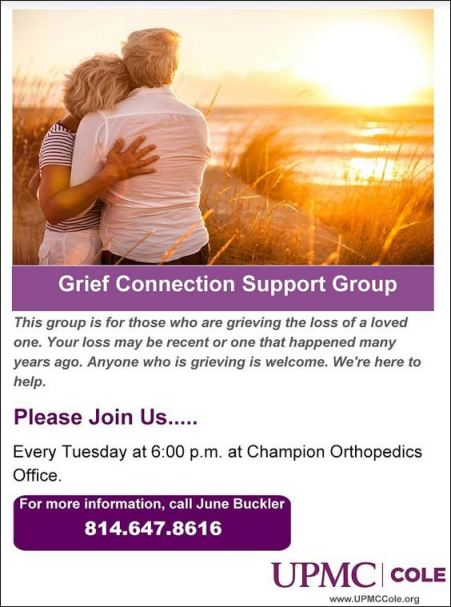 Every Tuesday Grief Support Group