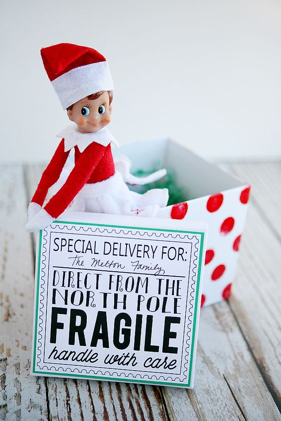 image relating to Elf on the Shelf Kissing Booth Free Printable called 20+ Totally free Elf upon the Shelf Printables - Poofy Cheeks