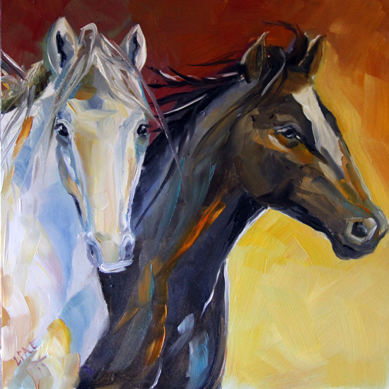 Texas Contemporary Fine Artist Laurie Pace: Horse Painting