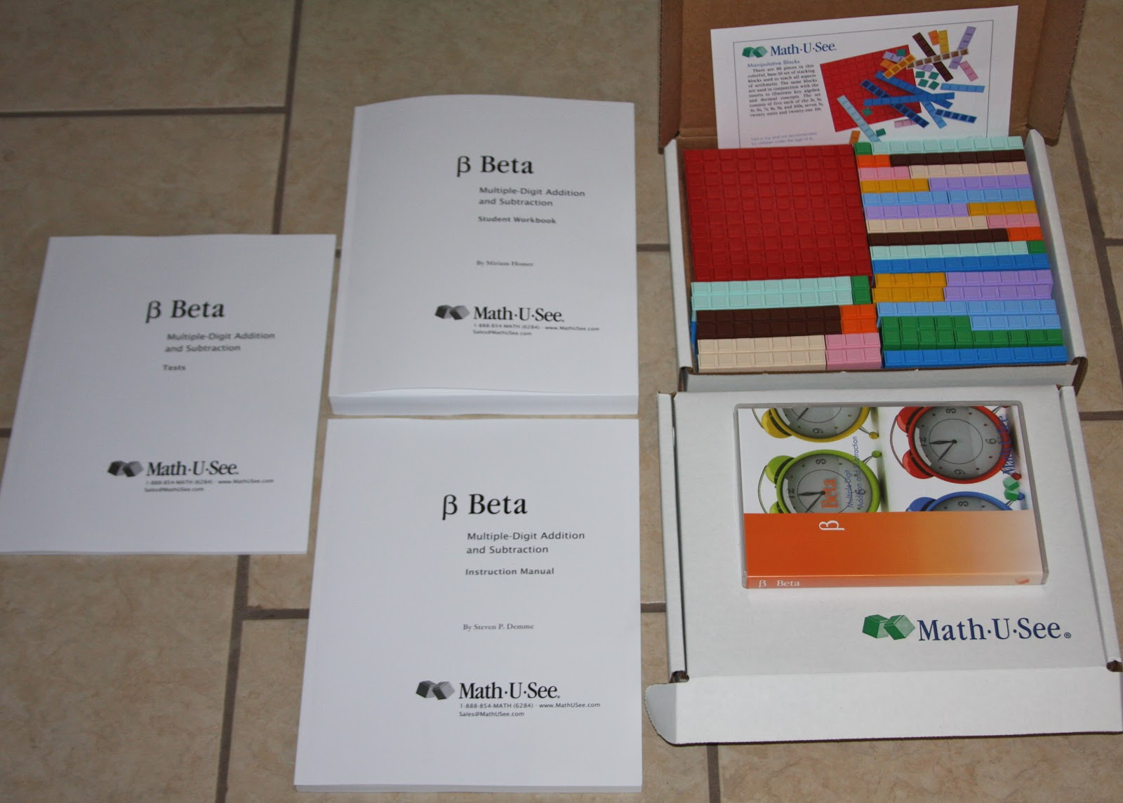 A Learning Journey Schoolhouse Crew Review Math U See Beta