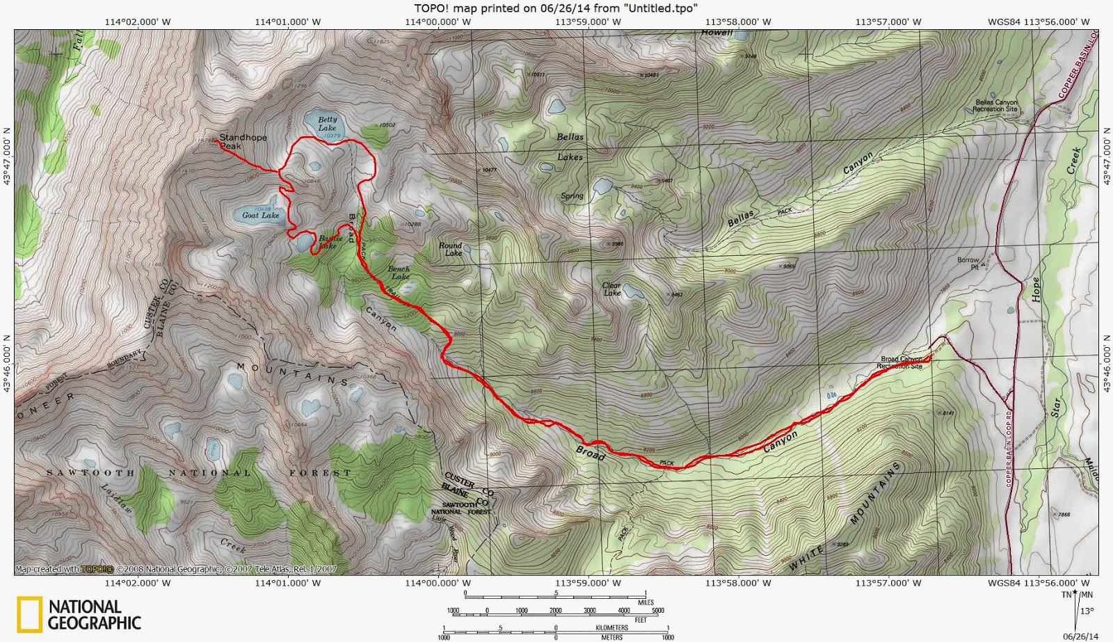 Pioneer Mountains Idaho Map.Stueby S Outdoor Journal Pioneer Mountains Copper Basin Offer