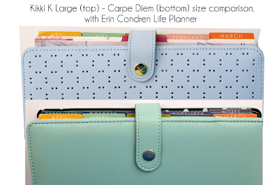 Kikki K Large compared to Carpe Diem planner