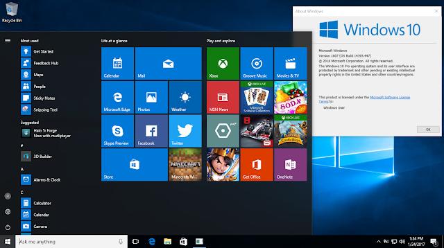 Windows 10 AIO Version 1607 OS Build 14393.447 (x86-x64) VL