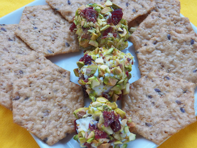 Mini Pistachio and Craisin Cheese Balls
