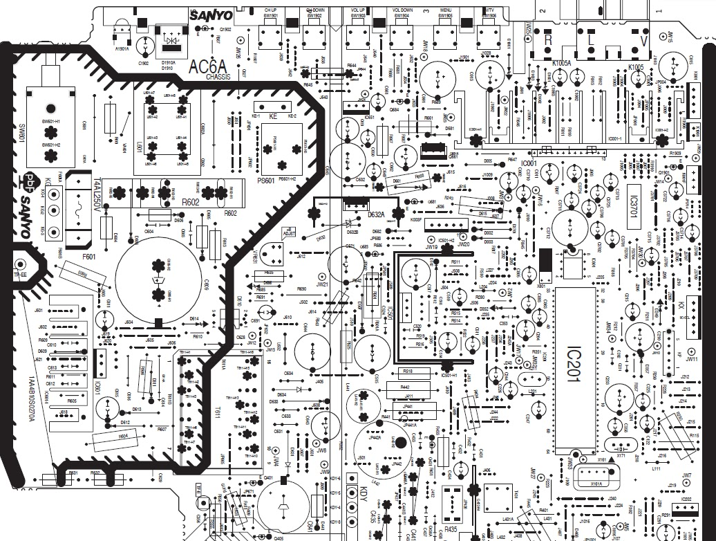 hight resolution of sanyo tv wiring diagram wiring diagram dat sanyo tv schematic diagram free download sanyo tv diagram