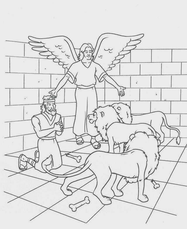 El Renuevo De Jehova: Daniel y los Leones - Imagenes para colorear ...