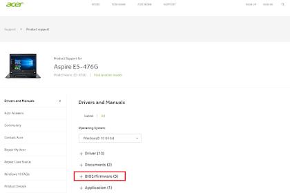 Cara Update Driver Acer Aspire E5-476G Ke Versi Terbaru ( 1.37 )