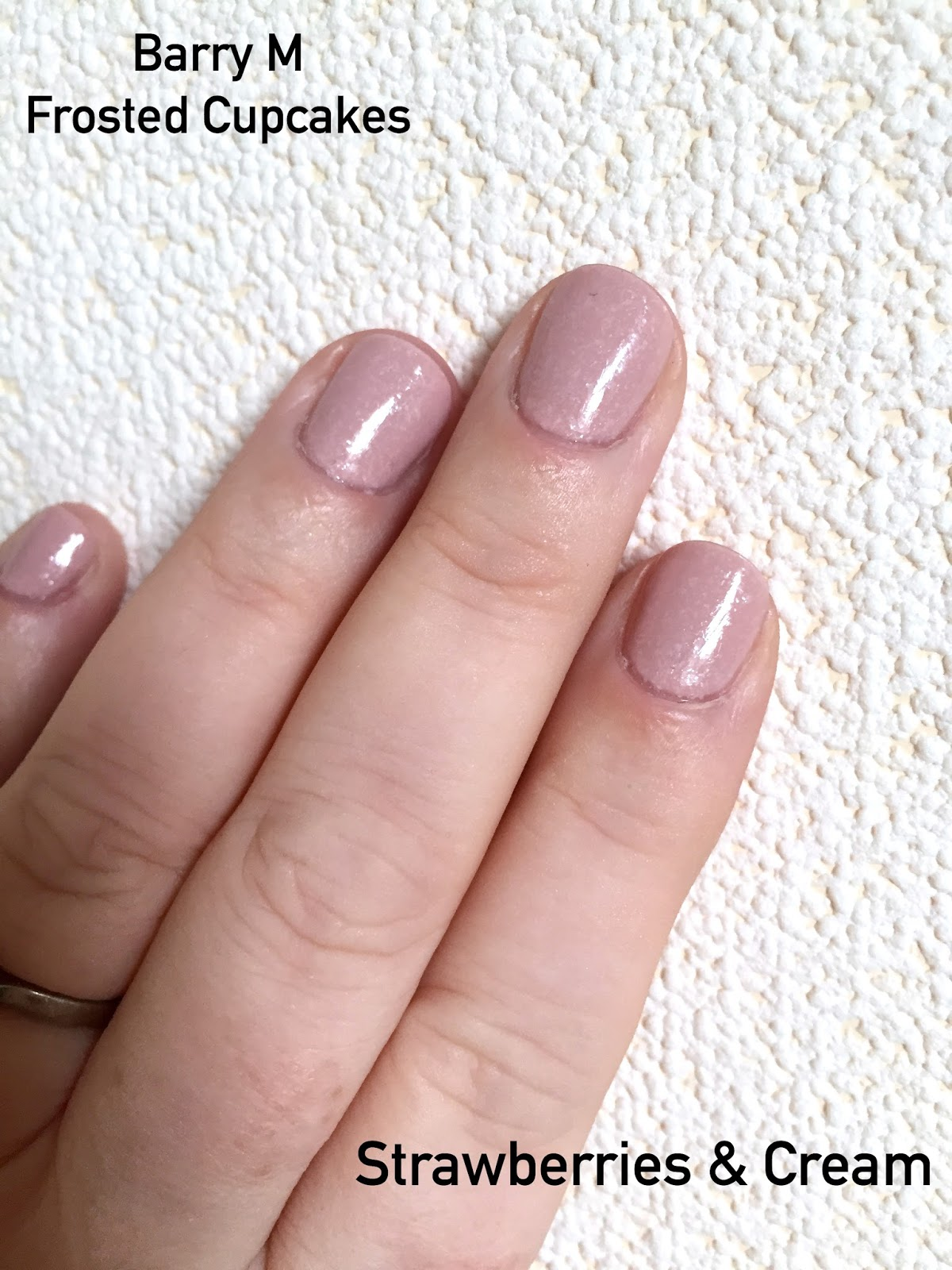 Barry M Frosted Cupcake Polishes - NOTD And Review - Mammaful Zo ...