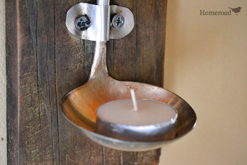 Rustic Ladle Tea Lights