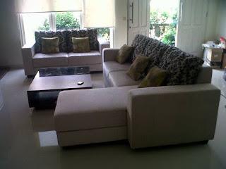 sofa tamu minimalis jenis L SHAPE