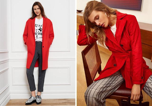 Красный + серый в одежде