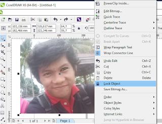 cara membuat vektor wajah di CorelDRAW X6