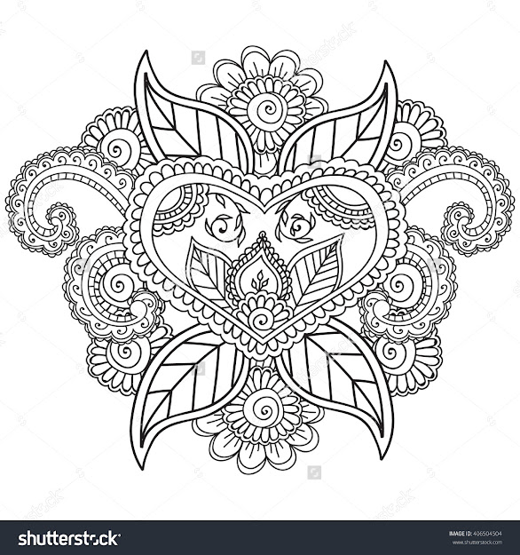 Coloring Pages For Adults Henna Mehndi Doodleszentahgle Abstract Floral  Paisley Design Elements
