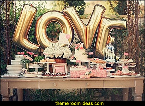 Love Balloon Gold Letter Balloons for Birthday Bachelorette Party Engagement Wedding Bridal Shower Decorations