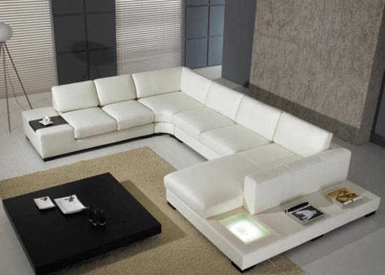 The Ultra Modern White Leather Sectional Sofa for ...