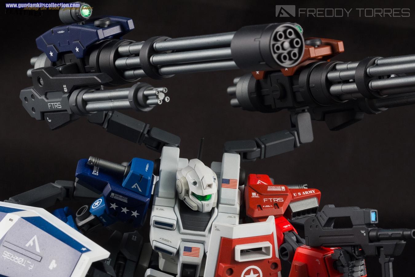 Custom Build Hgbf 1 144 Powered Gm Cardigan Murica Gundam Kits