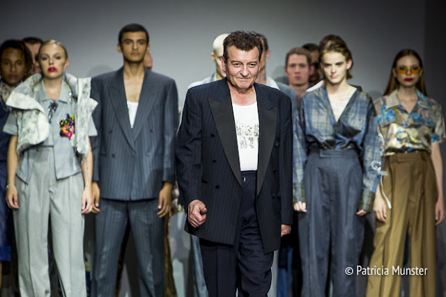 Inspired by her father's suits Stavreva presents her collection at Amsterdam Fashion Week