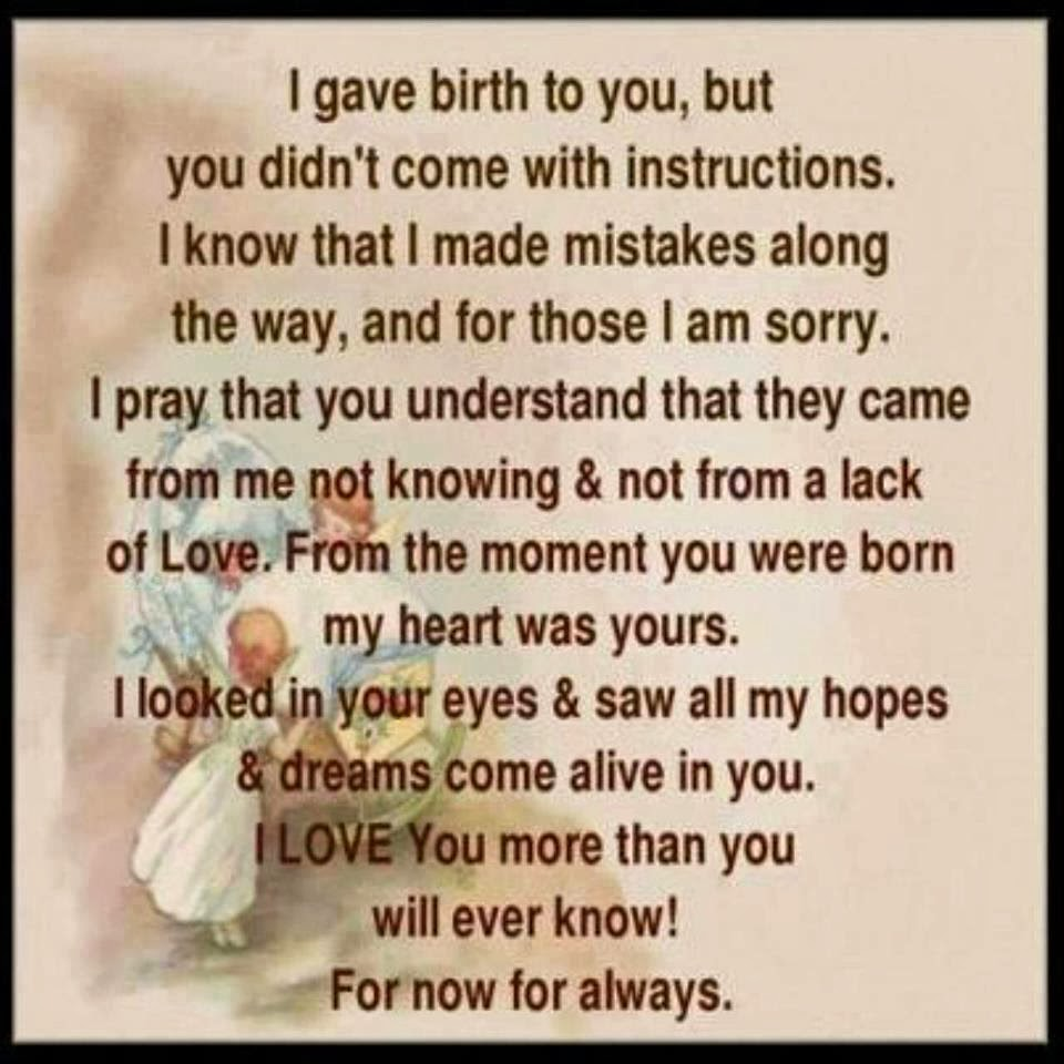 I Love You More Than You Know Quotes: Sorry To My Daughter Quotes. QuotesGram