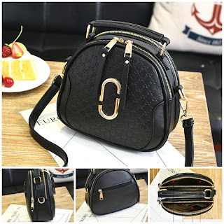 ini adalah tas warna hitam import murah