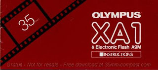 Olympus XA1, Instruction Cover