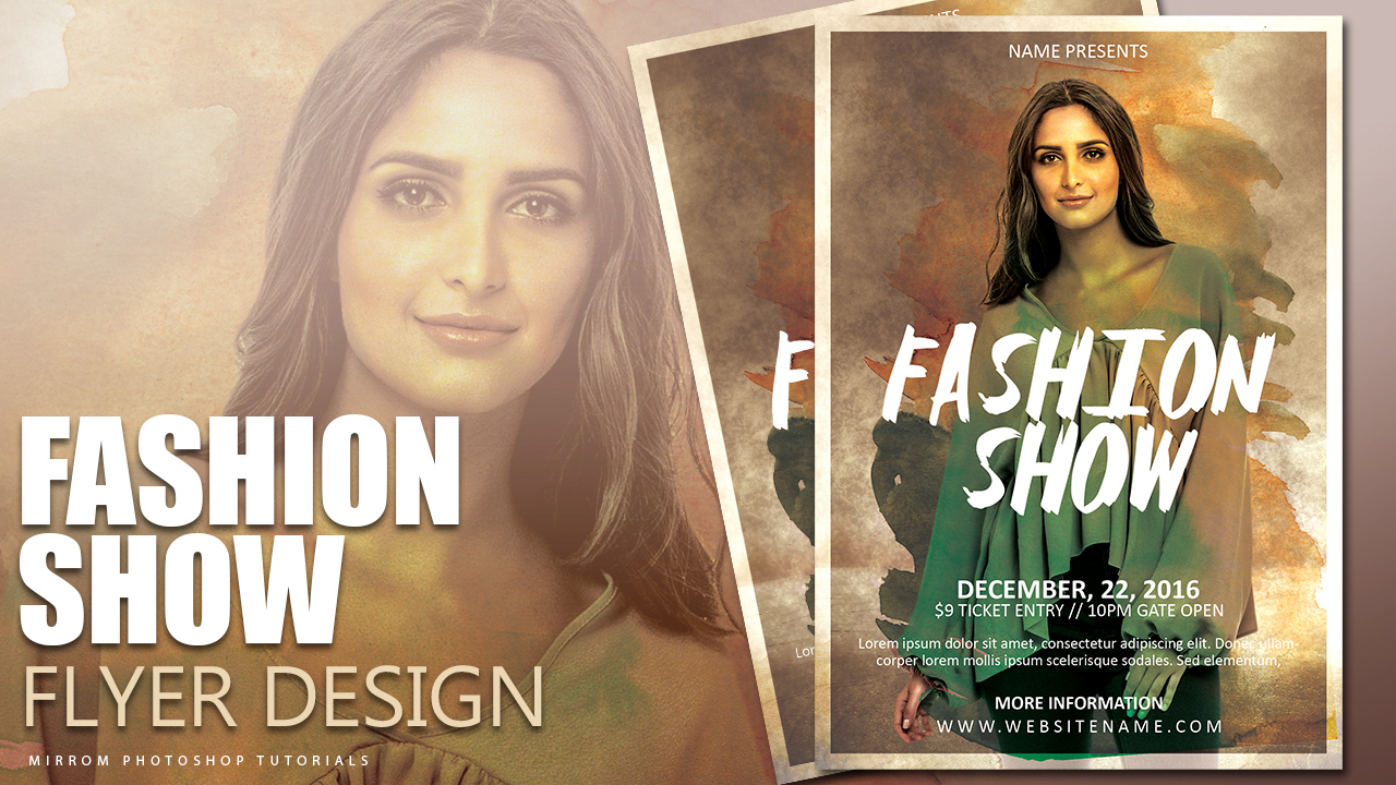 Create a Fashion Flyer Show Photoshop Tutorial