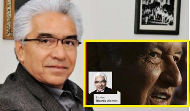 Seguidores de Obrador son pobres, sin estudios y resentido, señalo el periodista Ricardo Alemán