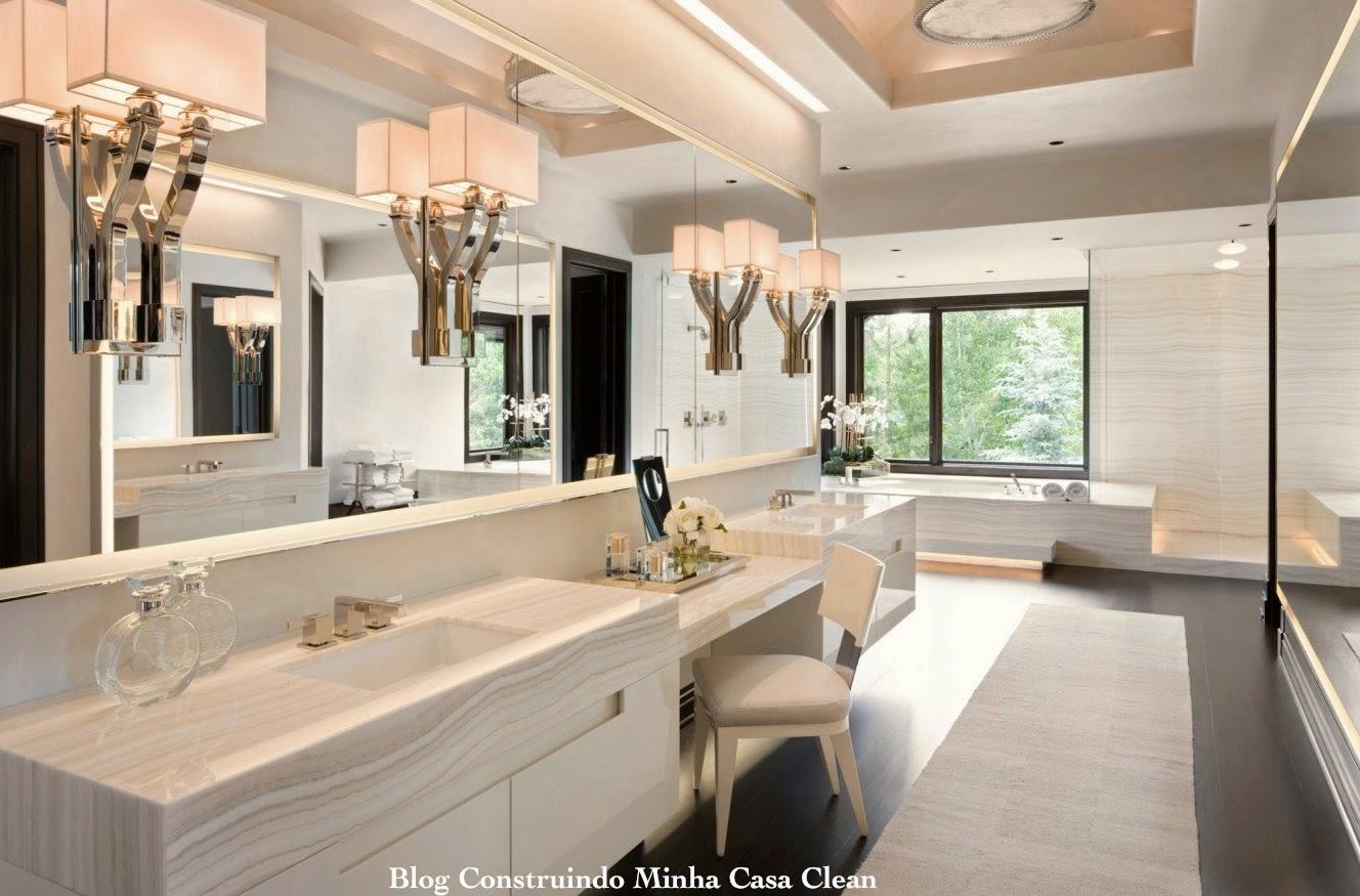 Luxury Home Interiors Bathroom: Construindo Minha Casa Clean: Banheiros Femininos Com