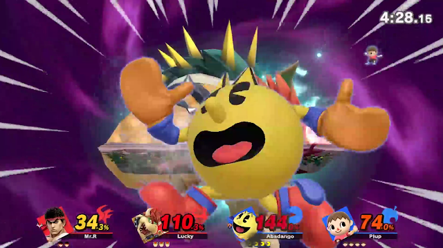 Super Smash Bros. Ultimate Bowser Final Smash Pac-Man screen KO