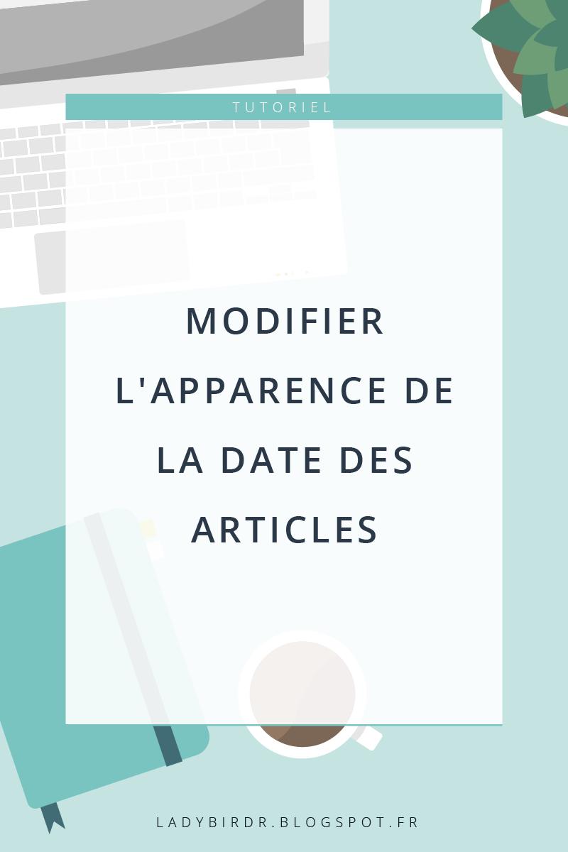 Modifier l'apparence de la date des articles