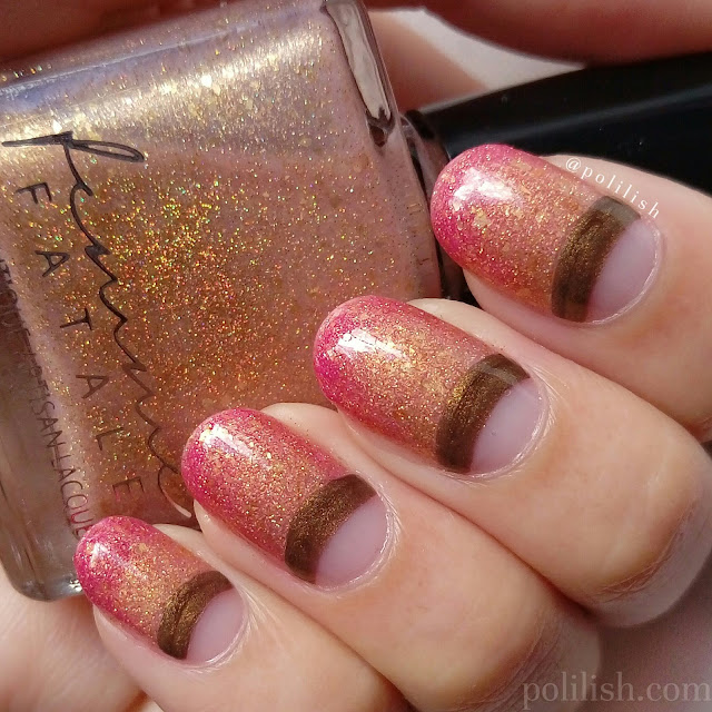 Colour changing thermal manicure featuring Femme Fatale Cosmetics | polilish