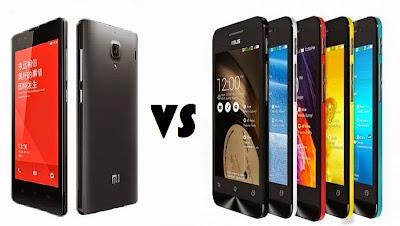 Spesifikasi Asus Zenfone 4S vs Xiaomi Redmi 1S