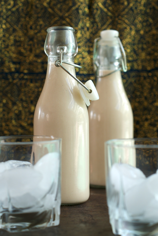 Homemade Irish Cream is super easy to make and tastes so much better than store-bought.  Add it to your coffee, drink it on the rocks, or give a bottle away as a gift!