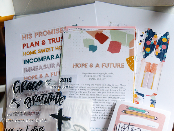 Take on the New Year with Grace & Gratitude {+ A Look at December's Illustrated Faith Devotional Kit}
