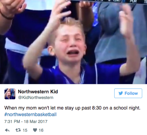 crying northwestern kid twitter reactions march 2017 4 crying northwestern kid in gonzaga loss creates hilarious twitter