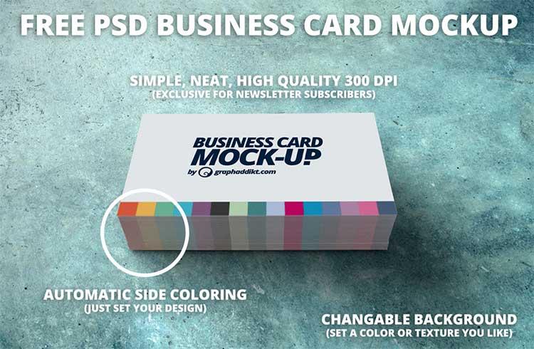 Free PSD Business Card Mockup
