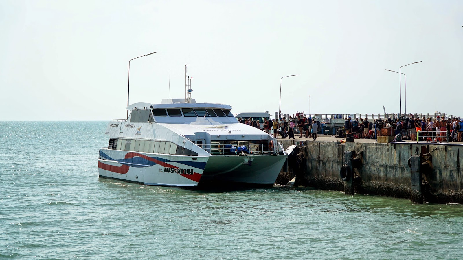 Getting ready to board the Lomprayah ferry to Koh Tao