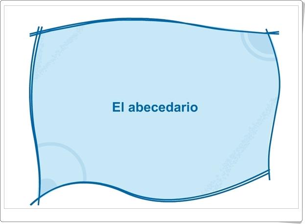 EL ABECEDARIO (Juego de ordenación alfabética)