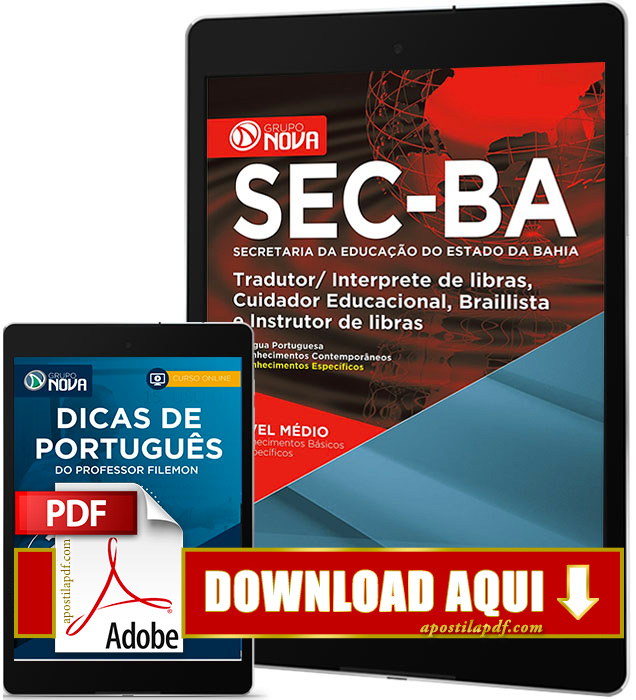 Apostila SEC BA 2017 PDF Download Cuidador Educacional