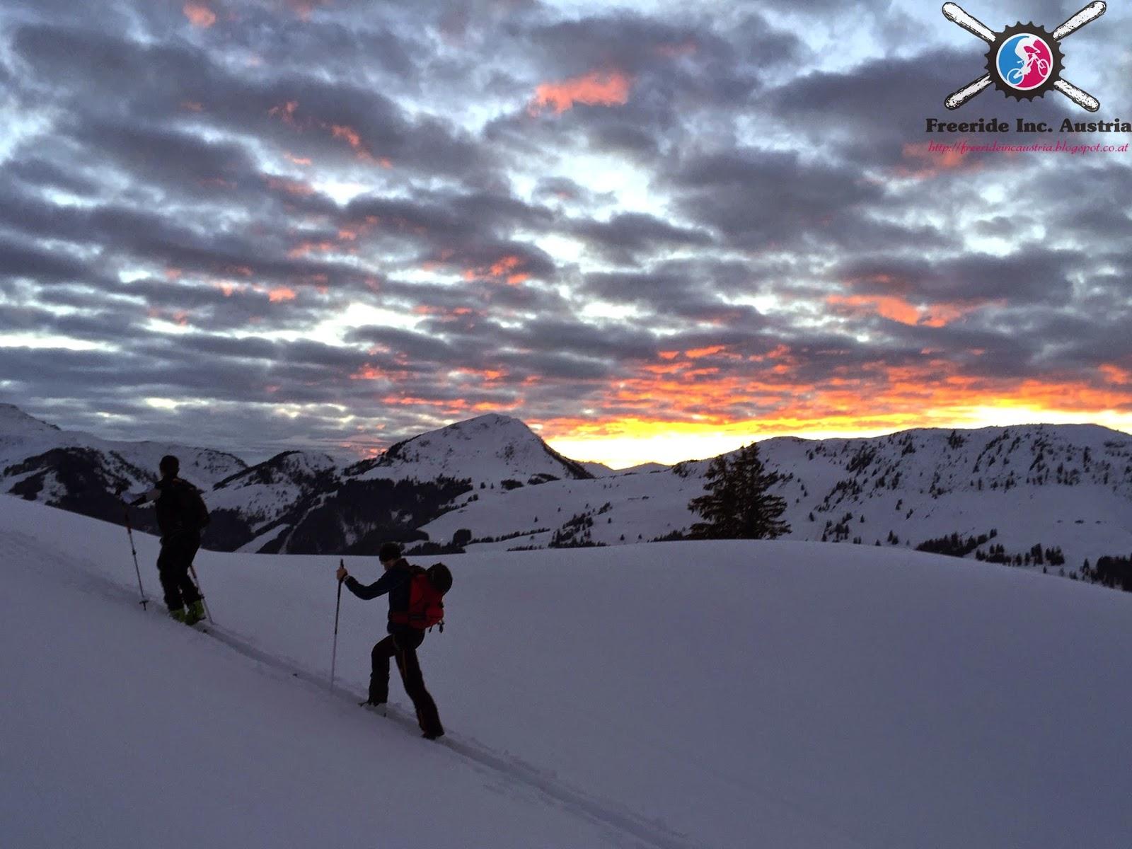 Skitour mit Aussicht auf den Gaisberg