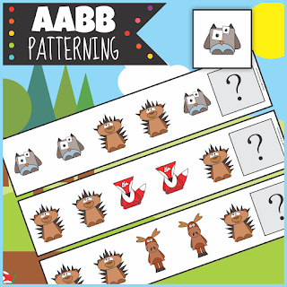 https://www.teacherspayteachers.com/Product/Woodland-Animals-AABB-Patterning-Activity-3330170