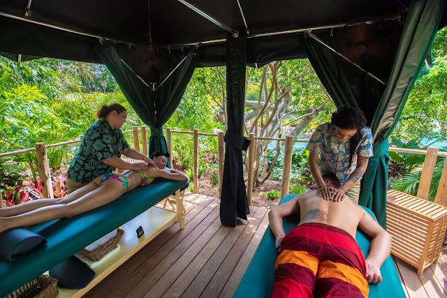 Massagem no Discovery Cove