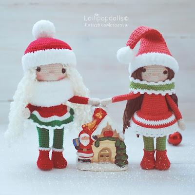 Снежные девочки крючком