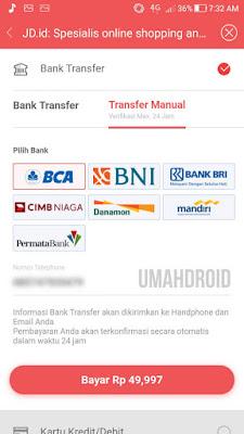 Cara Bayar JD ID Transfer