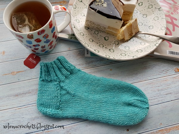 как связать короткие носки спицами мастер-класс